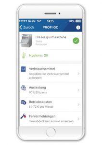 Mit der Hobart App Washsmart lassen sich per Knopfdruck umfassende Informationen über den Status der neuen Gläser- und Geschirrspülmaschinen abrufen.