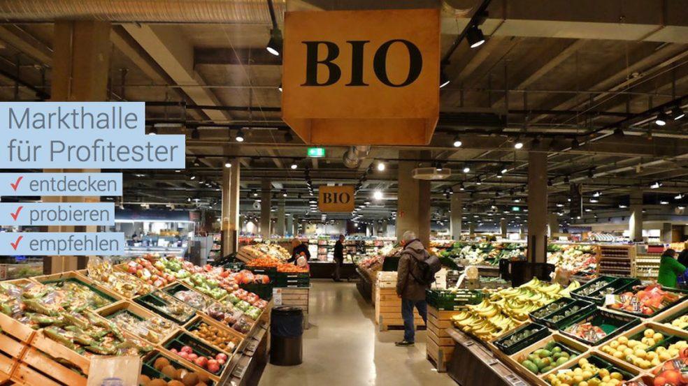 Online-Markthalle für neue Produkte