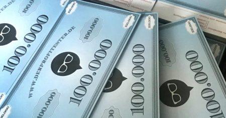Mit exklusiven Profitester Dollarnoten konnten die Newcomer ausgezeichnet werden.