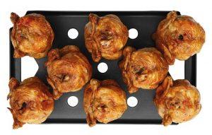 """Krefft Großküchentechnik bietet mit dem Grillblech """"Speedy Chicken"""" und dem Grillrost """"Speedy Grill"""" neues Heißluftdämpferzubehör."""