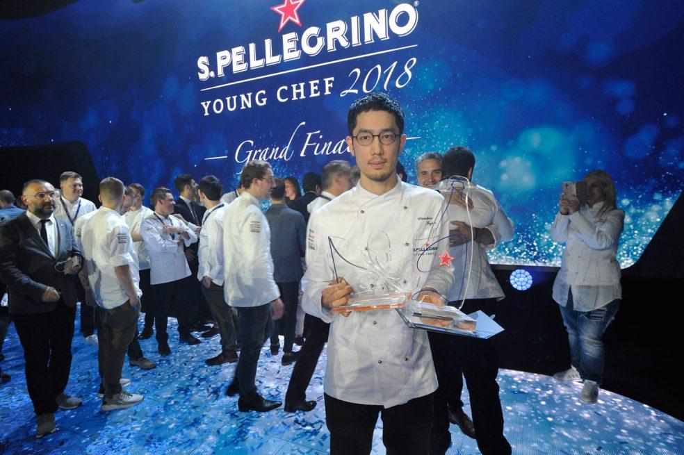 """Yasuhiro Fujio gewinnt das Finale des """"S.Pellegrino Young Chef 2018"""" in Mailand"""