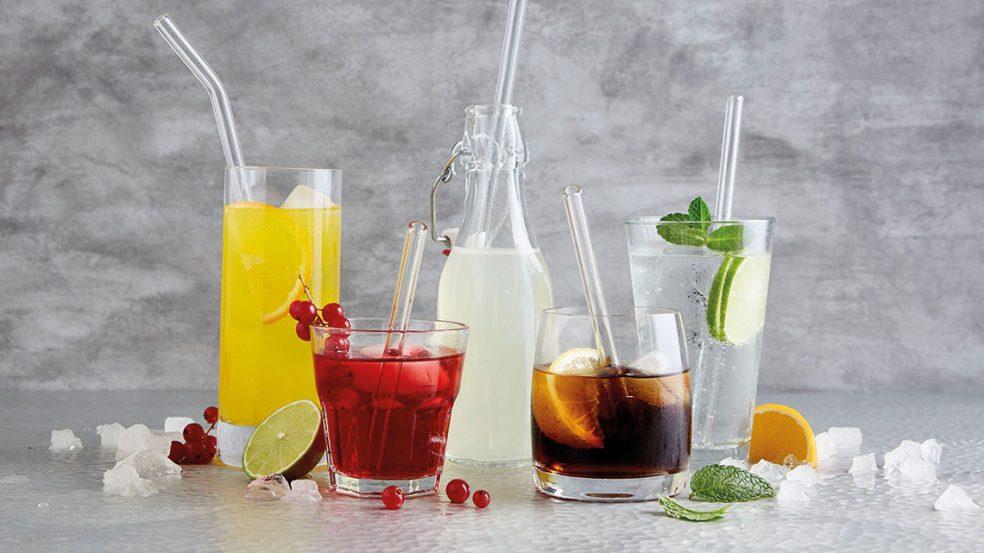 Trinkhalme aus Glas sind eine sinnvolle Investition in die Zukunft.