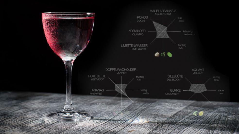 Klar, dezent und schmackhaft: Drinks in der Bar am Steinplatz