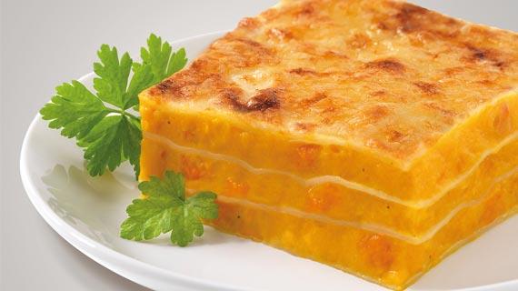 Saison-Lasagne mit Kürbis