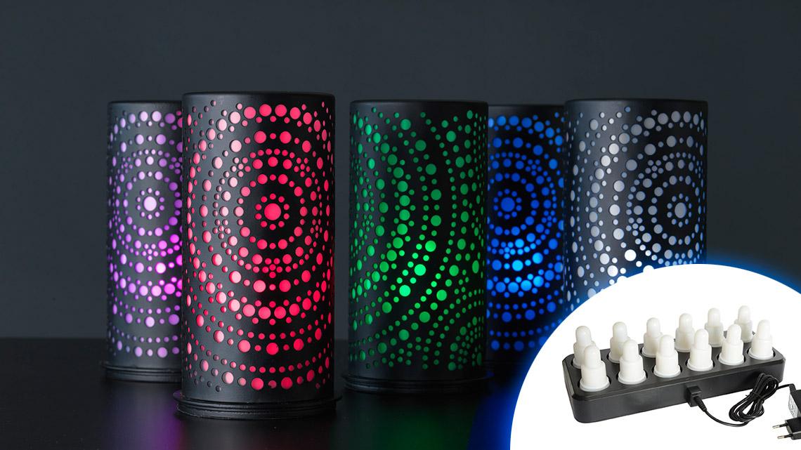 LED-Kerzen von Duni genügen dem Brandschutz und wechseln Farben