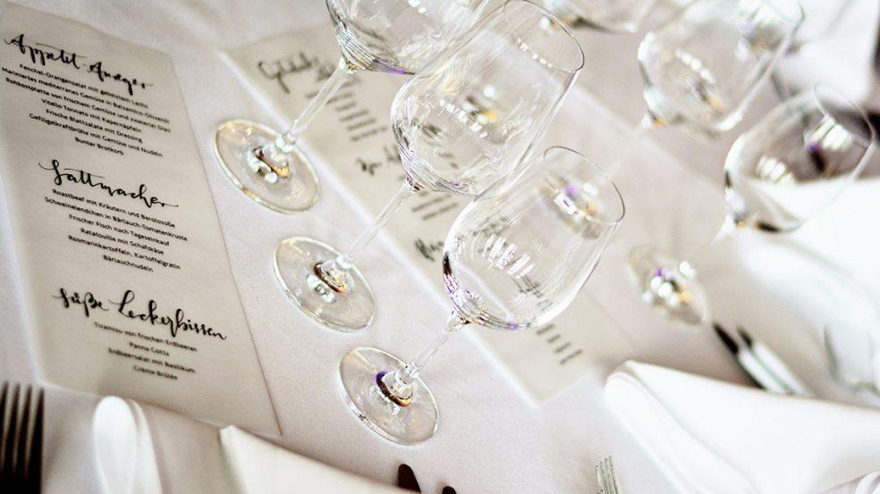 Mit einer ansprechend gestalteten Speisekarte werden die Gäste überzeugt.