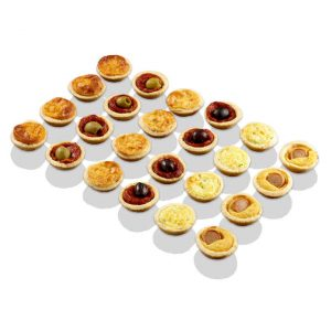 Mini-Quiches und Mini-Pizza von Délifrance.