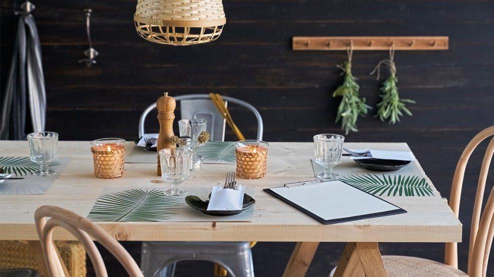 Leaf Graspapier Sacchetto und Tischsets von Duni – aus Gras gefertigt für absolute Umweltschonung