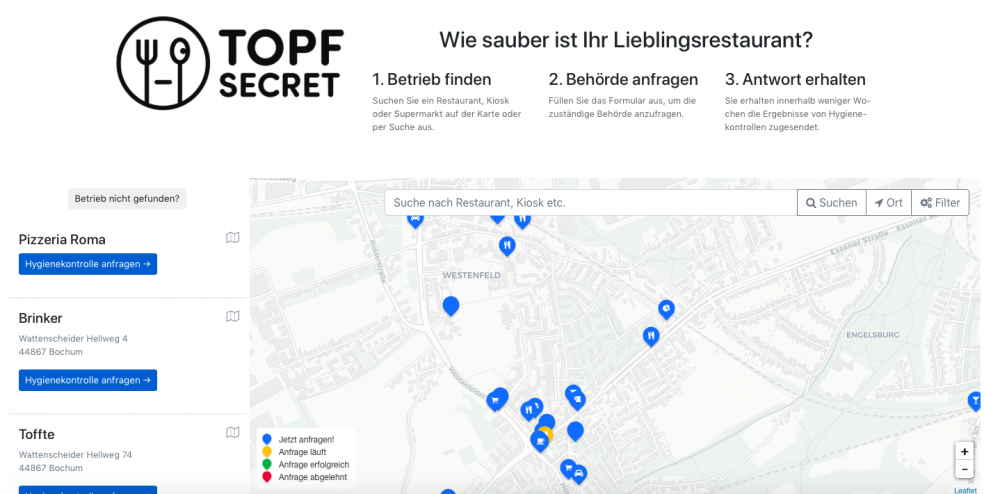 Online-Plattform Topf Secret