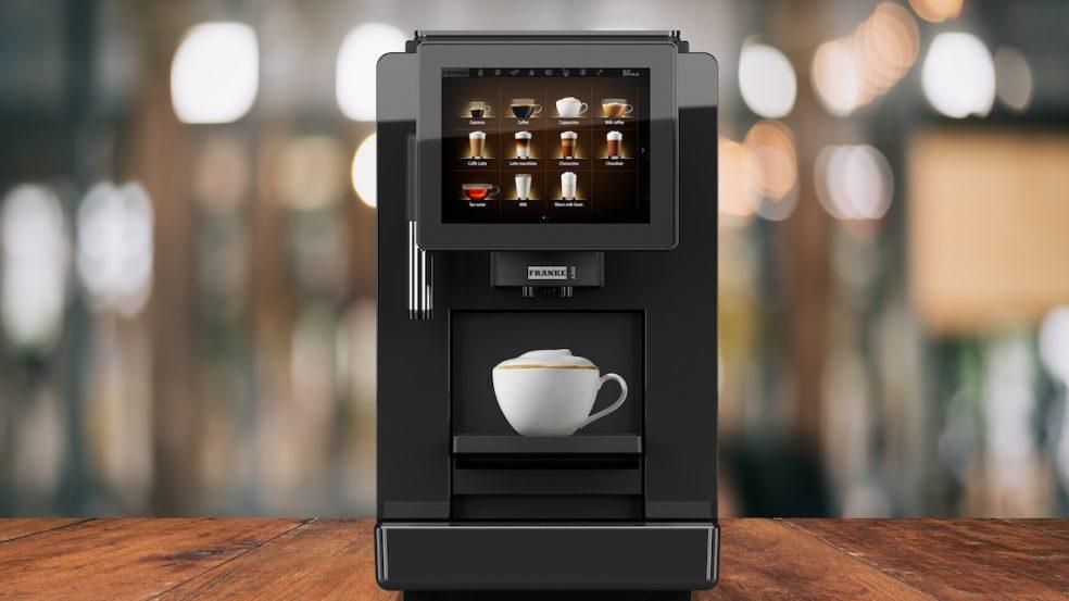 Platzsparende Kaffeemaschine