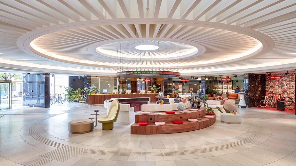 Lobby des 25hours Circle in Köln